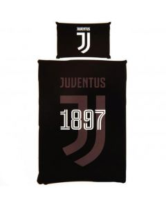 Juventus Black Reversible Quilt Cover