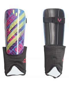 The front view of the new Lionel Messi match shin pads for kids.