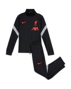 Liverpool Kids Black Strike Tracksuit 2020/21