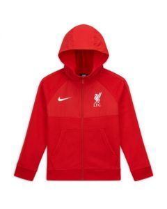 Liverpool Kids Red Hybrid Full Zip Hoodie 2020/21