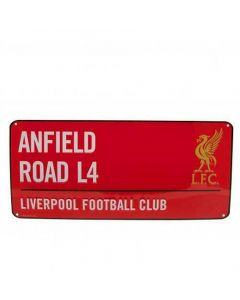 Liverpool Red Anfield Street Sign