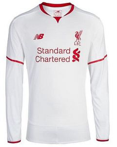 Liverpool Kids Away Long Sleeve Jersey 2015 - 2016