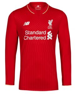 Liverpool Kids (Boys Youth) Long Sleeve Home Jersey 2015 - 2016