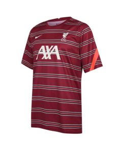 Liverpool kids red pre-match jersey 21/22