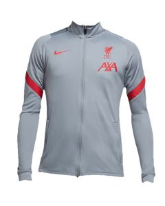 Liverpool 20/21 strike track jacket (light grey)