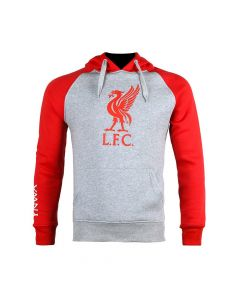 Liverpool Grey/Red Crest Hoodie 2020/21