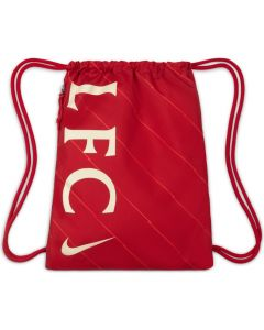 Liverpool Gym Sack in Red for soccer season 2021/22