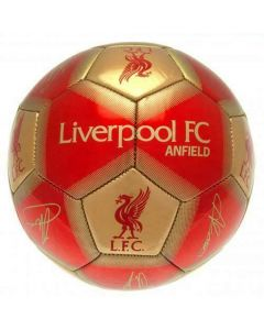 Liverpool Red and Gold Signature Football
