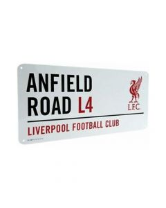 Liverpool White Anfield Street Sign