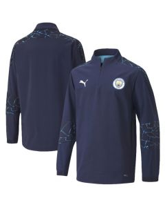 Man City junior quarter zip top 20/21