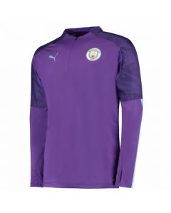 Man City purple quarter zip training top 2019/20
