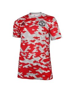 Manchester United Kids Red Pre-Match Jersey 2021/22