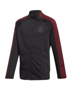 Man Utd 20/21 black Adidas junior anthem jacket