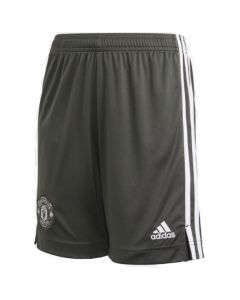 Man Utd kids green away shorts 20/21