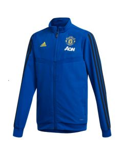 Man Utd blue Adidas kids presentation jacket 19/20