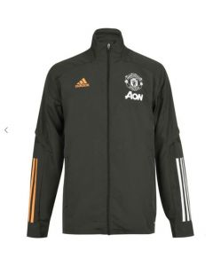 Man Utd kids green presentation jacket 20/21