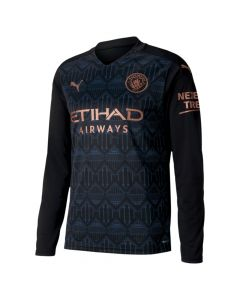 Manchester City Kids Long Sleeve Away Shirt 2020/21