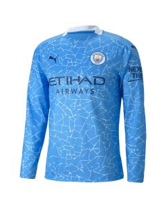 Manchester City Kids Long Sleeve Home Shirt 2020/21