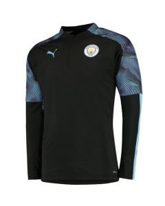 Manchester City Kids Black ¼ Zip Training Top 2019/20