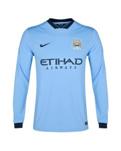 Manchester City Long Sleeve Home Jersey 2014 - 2015