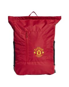 Manchester Utd red backpack which will be used during the 2021/22 soccer season