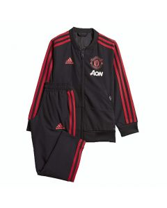 Manchester United Adidas Black Presentation Suit 2018/19 (Infants)