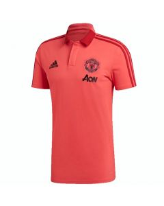 Manchester United Pink Adidas Training Polo 2018/19 (Adults)