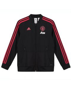 Manchester United Black Adidas Presentation Jacket 2018/19 (Kids)