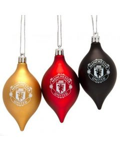 Manchester United Christmas Tree Bauble Set