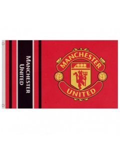 Manchester United Wordmark Stripe Flag