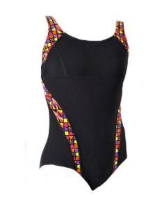 Maru Zazou Pacer Panel Swimsuit (Black/Neon)