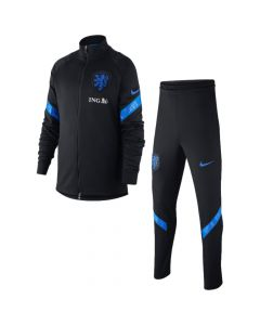 Netherlands Euro 2020 kids black strike tracksuit
