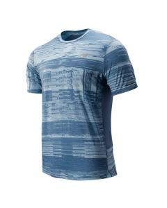 New Balance Men's Blue Printed Ice 2.0 T-Shirt