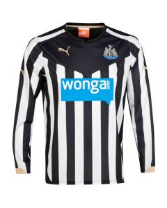 Newcastle United Kids (Boys Youth) L S Home Jersey 2014 - 2015