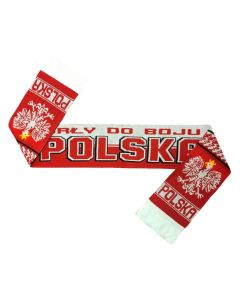 Poland Jacquard Football Scarf