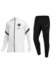 Paris Saint-Germain White/Black Strike Tracksuit 2020/21