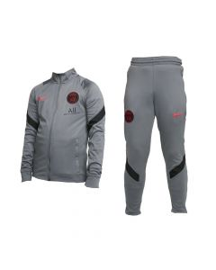 Paris Saint Germain Kids Grey Strike Tracksuit 2021/22