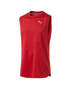 Puma Men's Ignite Mono Running Vest (Red)