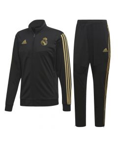Real Madrid Kids Black Presentation Suit 2019/20