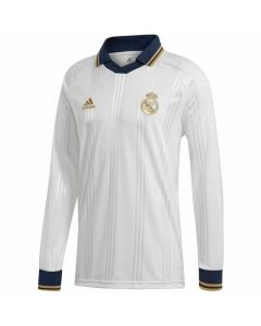 Real Madrid White Icon Long Sleeve Top 2019/20