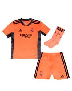 Real Madrid Kids Away Goalkeeper Kit 2020/21