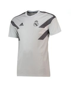 Real Madrid Adidas Grey Pre-Match Shirt 2018/19 (Adults)