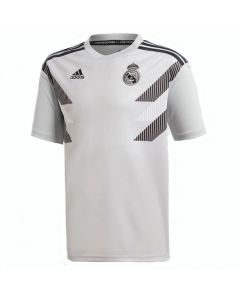 Real Madrid Adidas Grey Pre-Match Shirt 2018/19 (Kids)