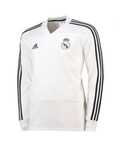 Real Madrid Adidas White Training Top 2018/19 (Adults)
