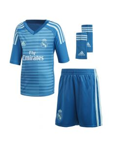 Real Madrid Adidas Goalkeeper Away Kit 2018/19 (Kids)