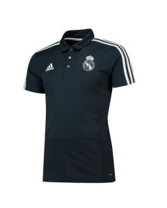 Real Madrid Adidas Dark Grey Training Polo Shirt 2018/19 (Adults)