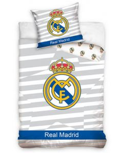 Real Madrid Grey Quilt Cover
