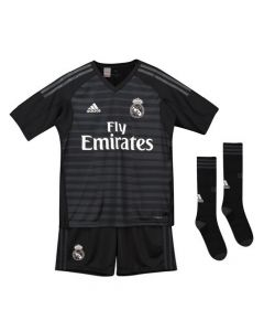 Real Madrid Adidas Goalkeeper Home Kit 2018/19 (Kids)