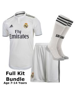 Real Madrid Kids Home Full Kit Bundle 2018/19