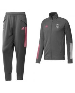Real Madrid boy's grey Adidas tracksuit 20/21